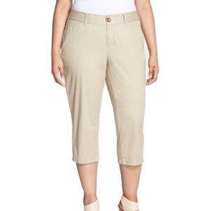 NWT JNY Beige Tan Capris Dress Pants 18w